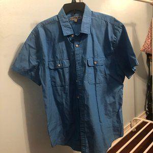 blue button down - short sleeve